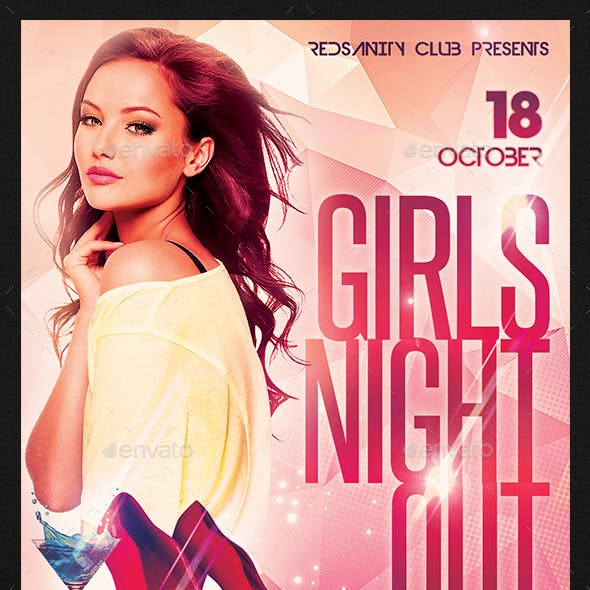 Girls Night Out Flyer plus FB Cover