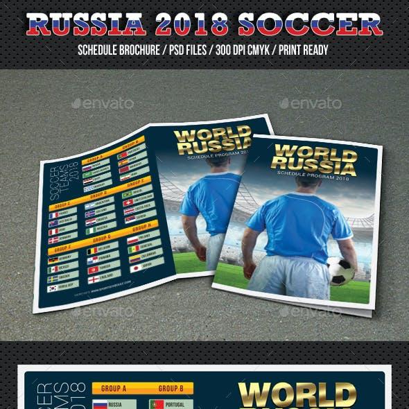 World Soccer Cup Russia 2018 Schedule Brochure