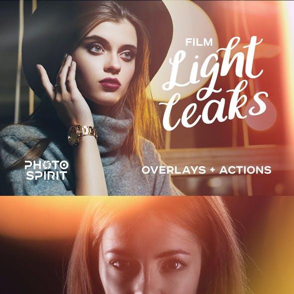 Film Light Leaks Overlays