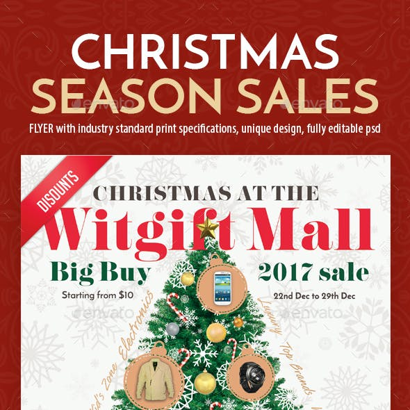 Christmas Season Sales Flyer