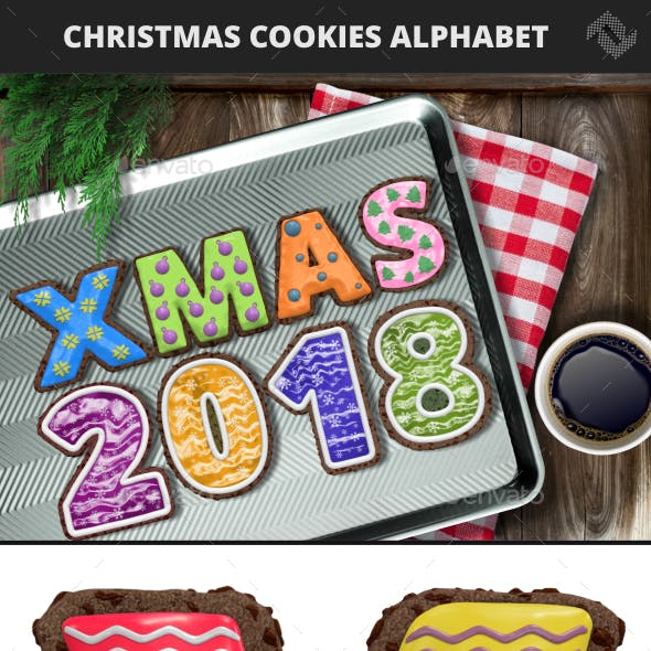 Christmas Cookie Alphabet & Numbers