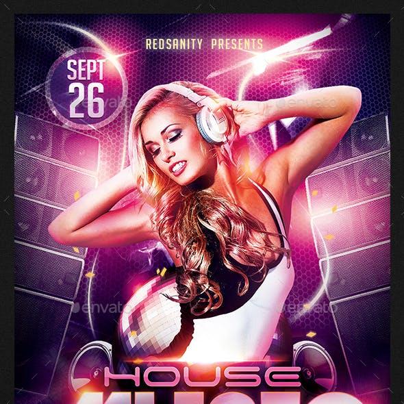 House Music DJ Flyer