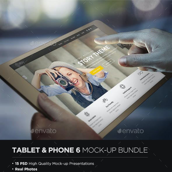 Tablet & Phone 6 Mock-up Bundle