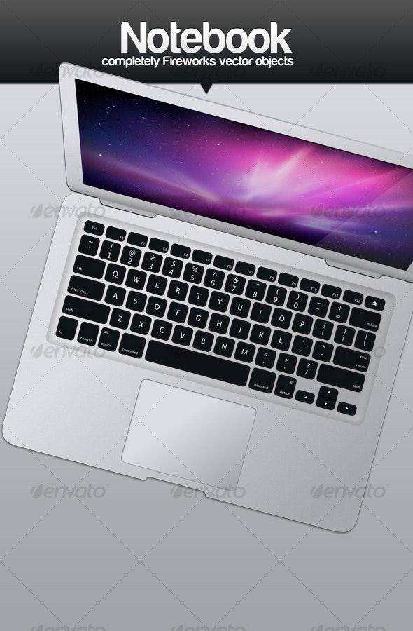 Silver Laptop (Top View) - Laptop Displays