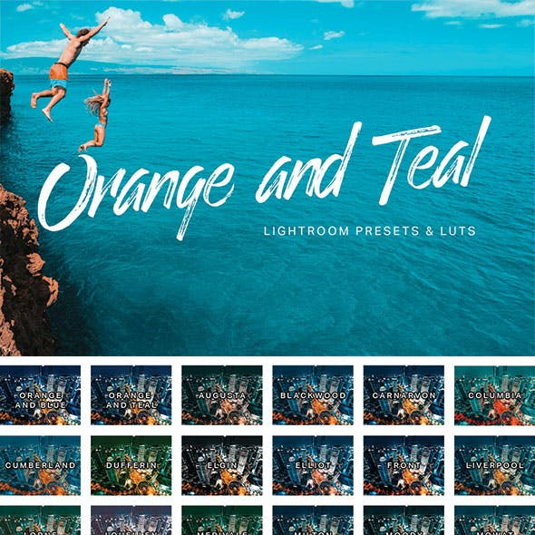 Orange Teal Lightroom Presets and LUTs