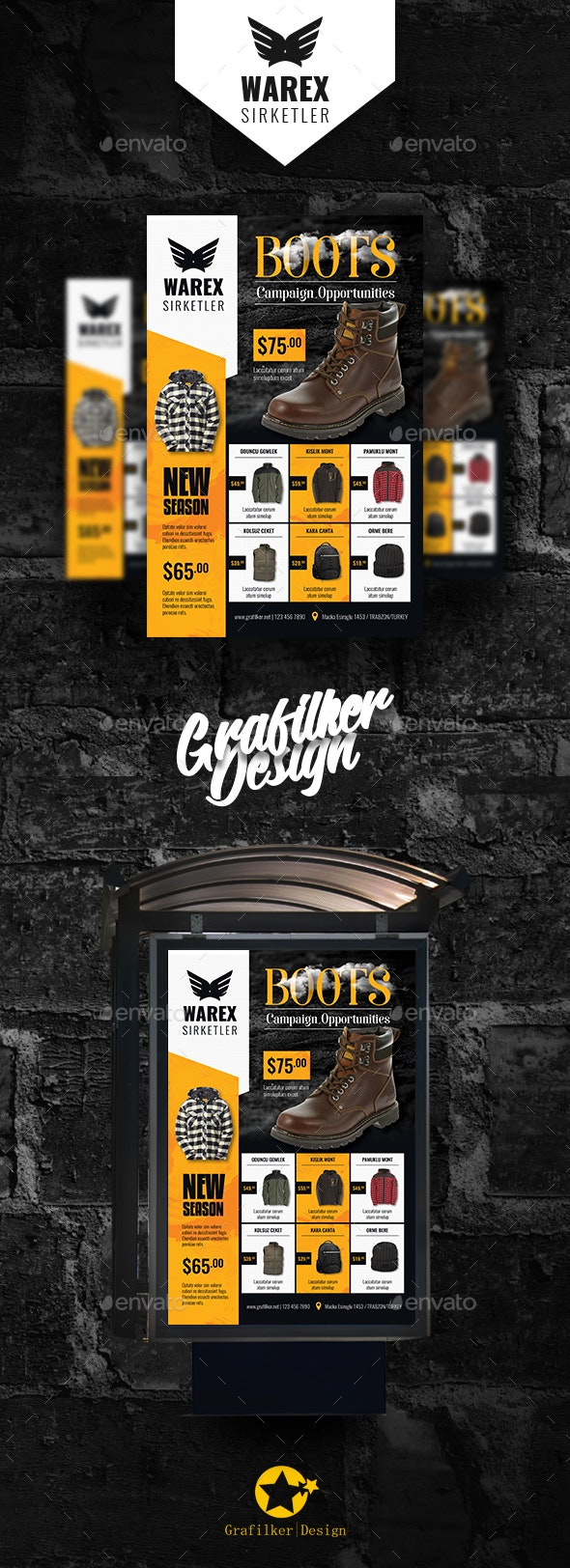 Shopping Product Poster Templates - Signage Print Templates
