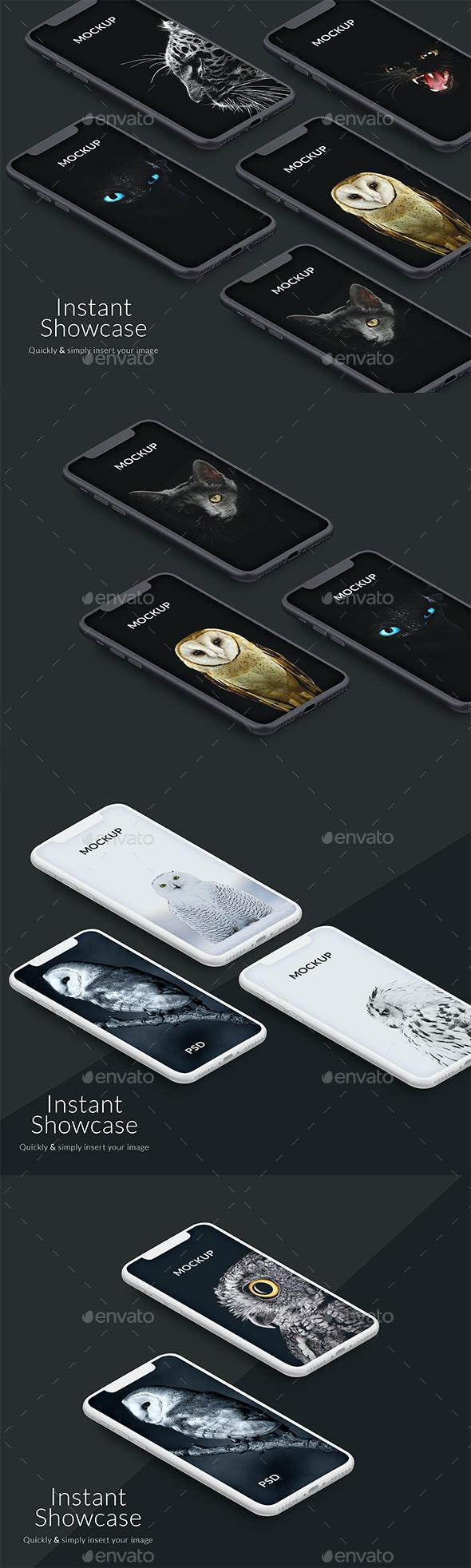 Perspective Iphone X Mockup - Product Mock-Ups Graphics