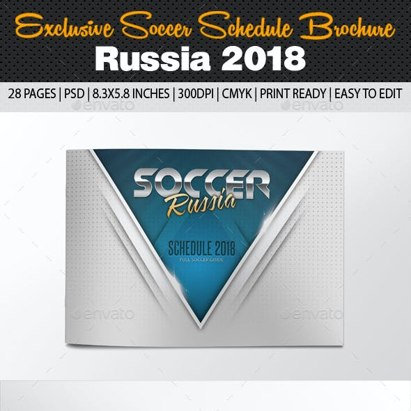 Exclusive Soccer Schedule Russia 2018 Brochure