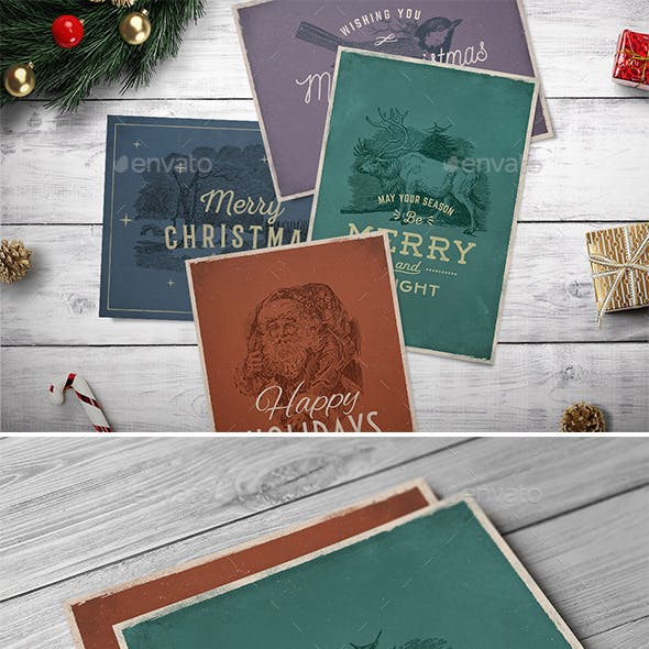 4 Vintage Christmas Cards vol. 2