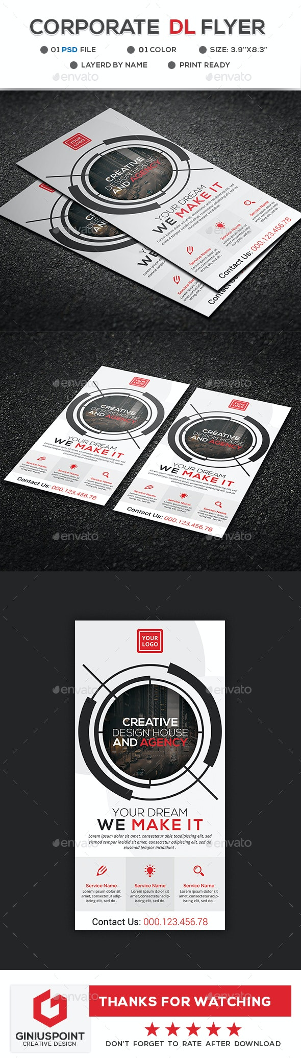 Corporate DL Flyer Template - Flyers Print Templates