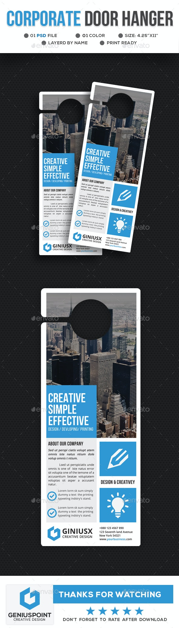 Corporate Door Hanger Template