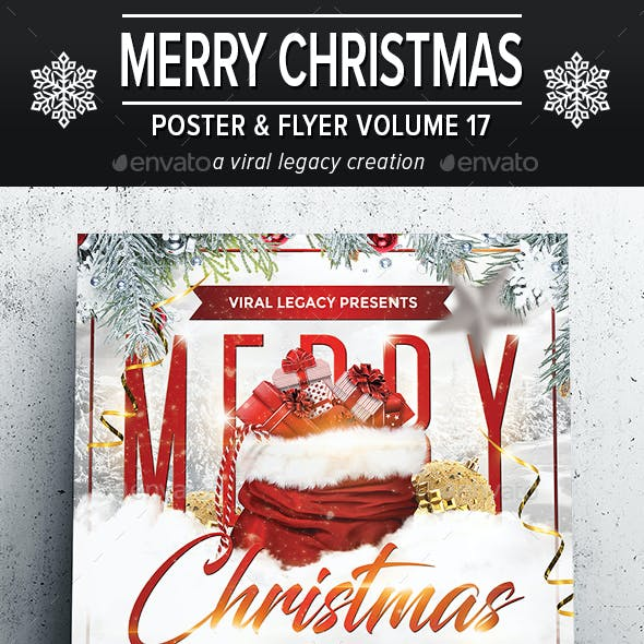 Merry Christmas Poster / Flyer V17