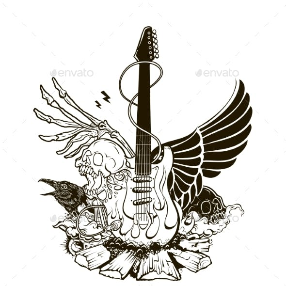 Rock n Roll Vector Illustration