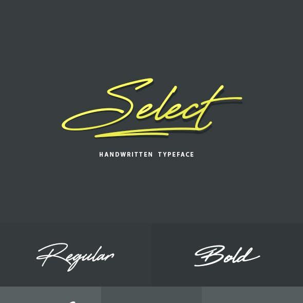 Select Handwritten Font