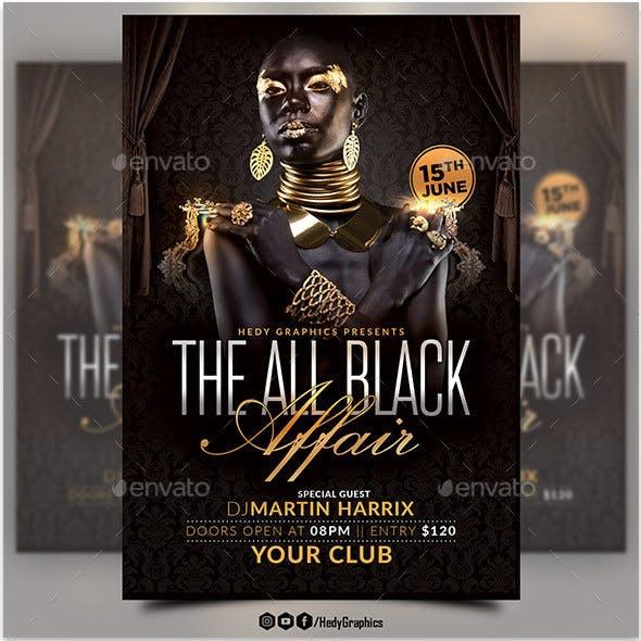 The All Black Affair Flyer