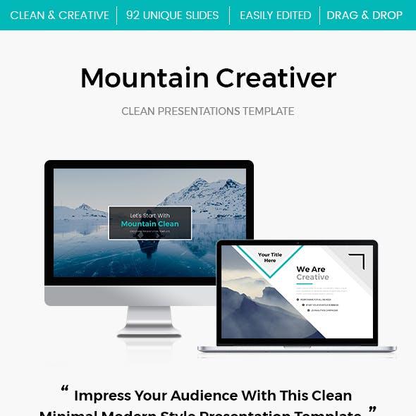Mountain 2.0 Creativer Google Slide Template