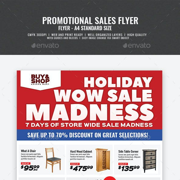 Product Sale and Promotional Flyer