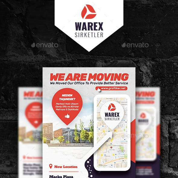Moving Office Flyer Templates