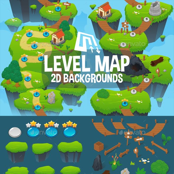 Level Map Backgrounds