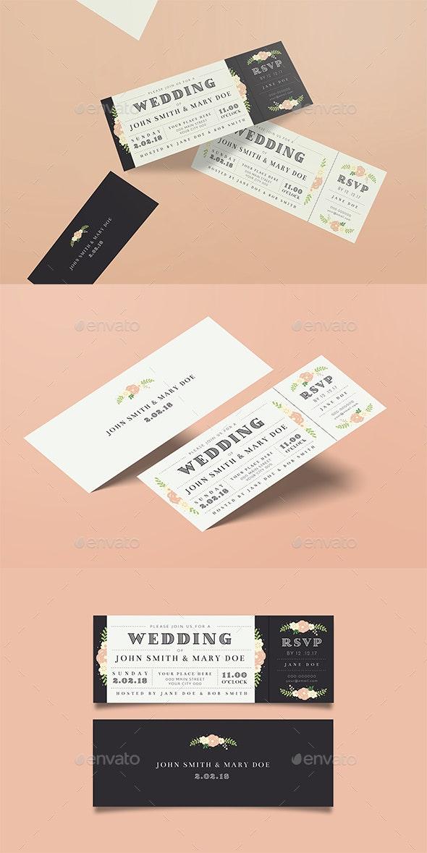 Wedding Invitation Ticket - Weddings Cards & Invites
