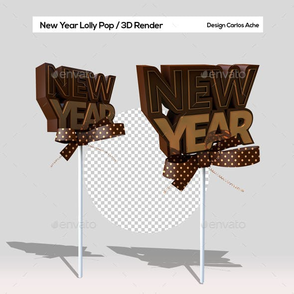New Year Lolly Pop