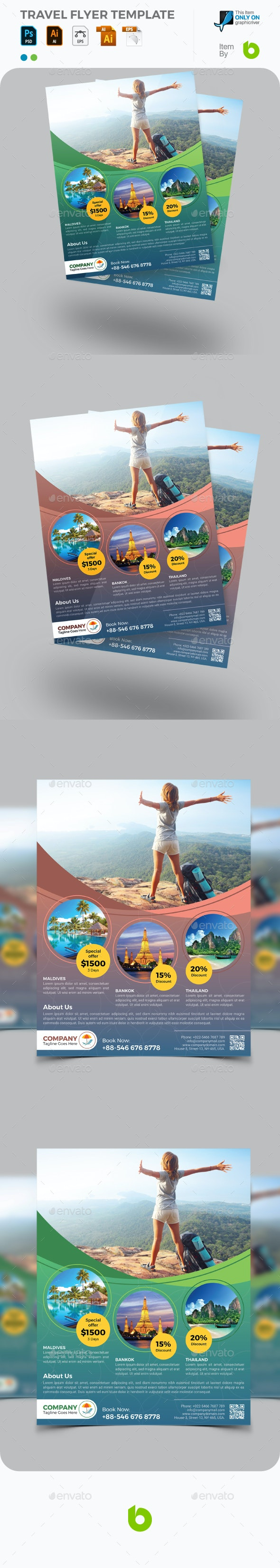 Travel Flyer Template - Calendars Stationery
