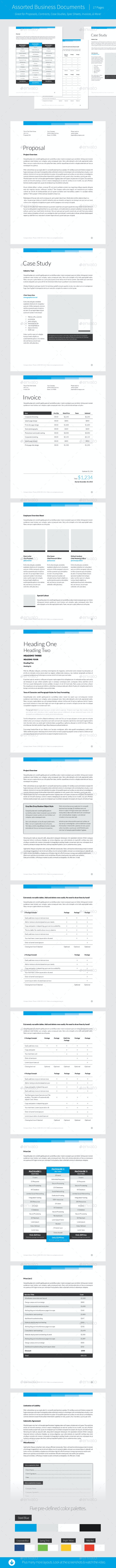 Simply Premium 7 – InDesign Template - Proposals & Invoices Stationery