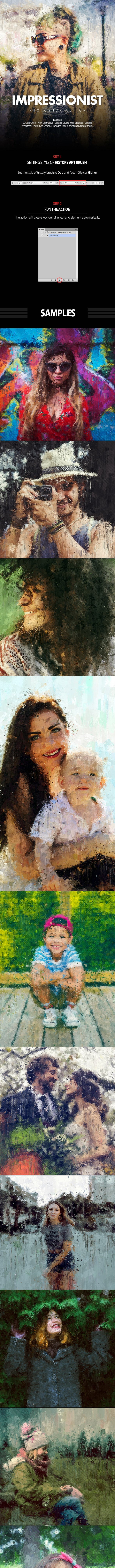 Impressionist Photoshop Action - Photo Effects Actions