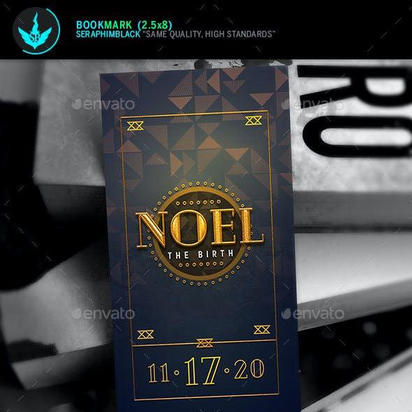 Noel Christmas Gala Bookmark Template