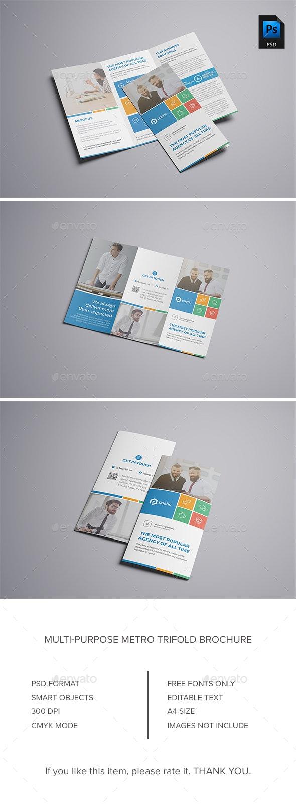 Metro Trifold Brochure - Corporate Brochures