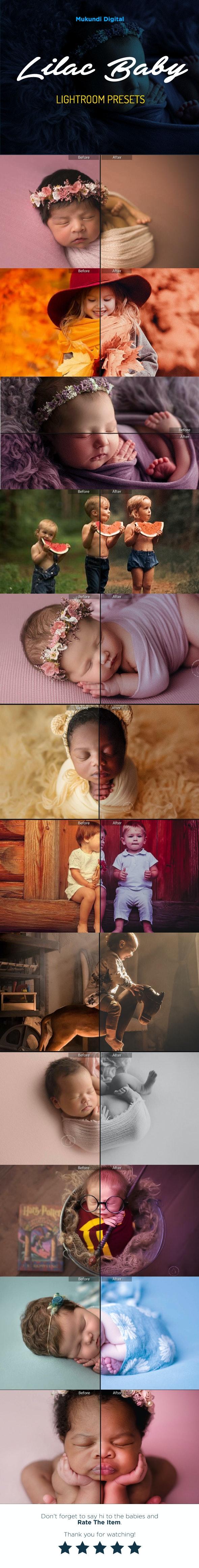 28 Lilac Baby Children Lightroom Presets - Portrait Lightroom Presets