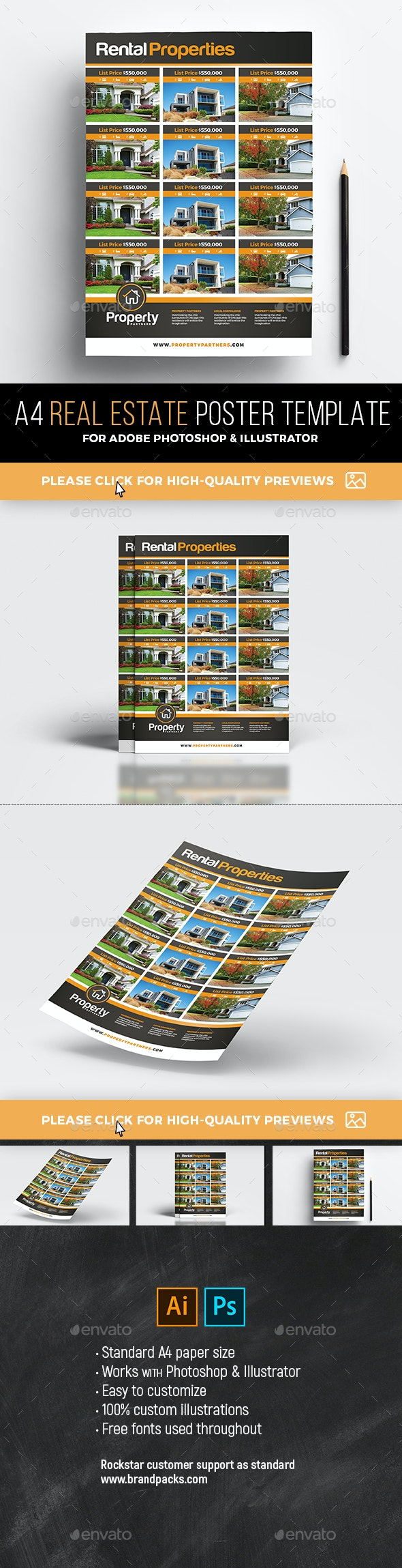 Real Estate Poster / Property Listing Sheet - Commerce Flyers