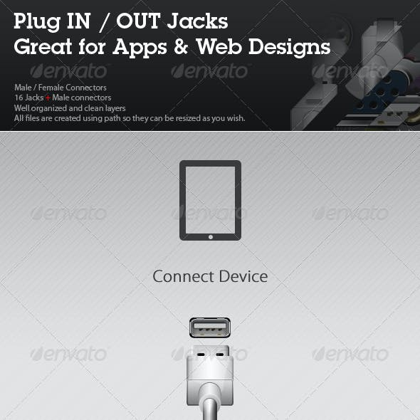 Plug IN / OUT Jacks