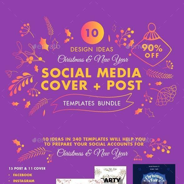 Christmas Social Media Design Templates Bundle