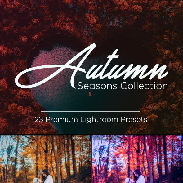 23 Premium Autumn Season Lightroom Presets