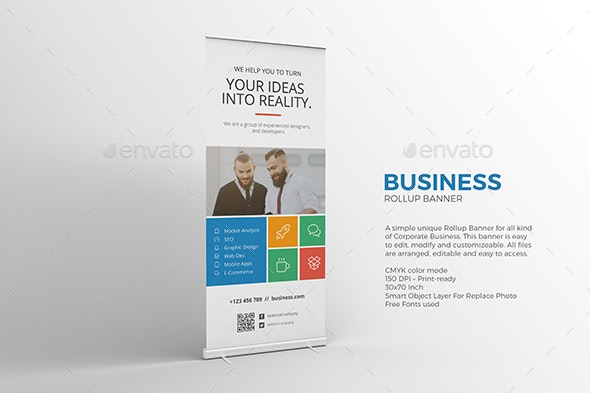 Metro Roll-up Banner - Signage Print Templates