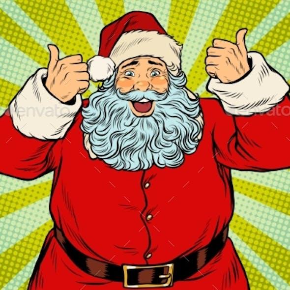 Thumb Up Happy Santa Claus