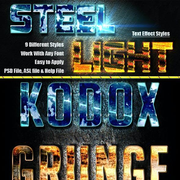 Steel Light Text Effect v.05