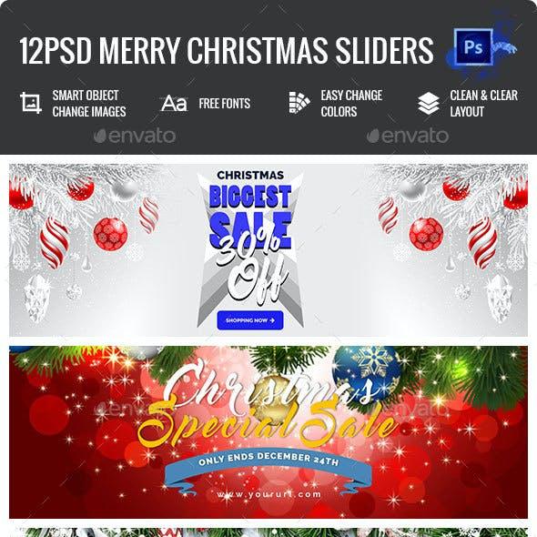 Merry Christmas Sliders - 12PSD