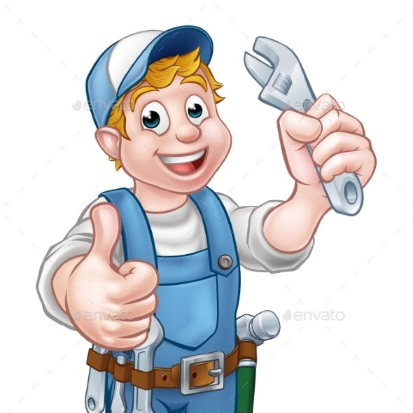 Cartoon Character Mechanic or Plumber