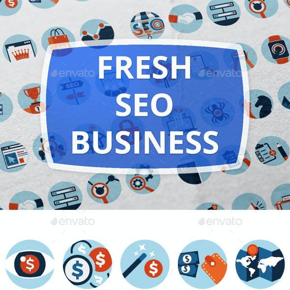 Fresh Seo Business Icons