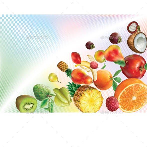 Fruits on a Transparent Volumetric Background