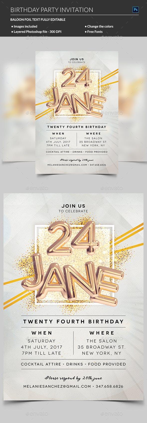 Elegant Birthday Invitation By Madridnyc Graphicriver