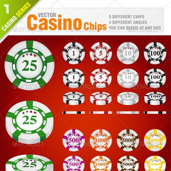 36 Casino Chips