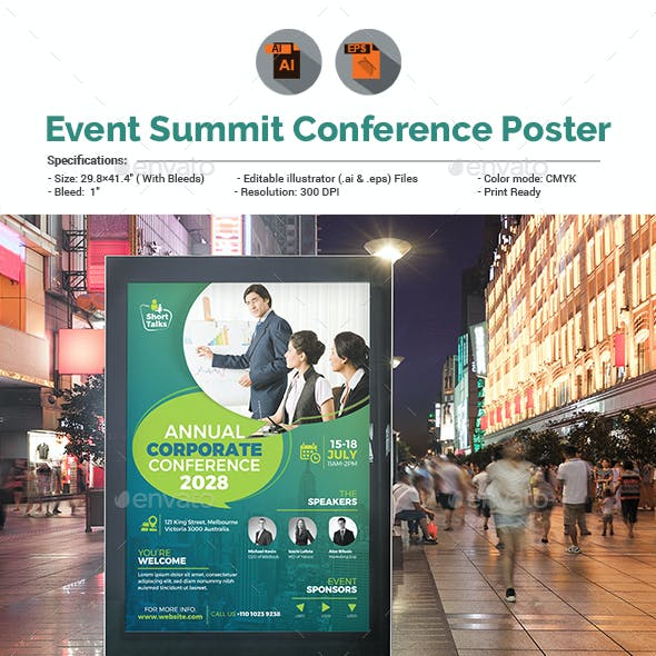 Annual Corporate Conference Poster