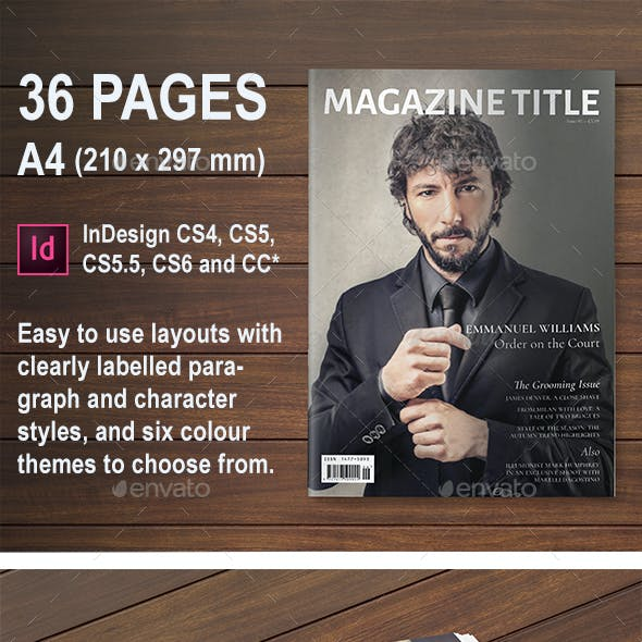 36 Page Men's Lifestyle/Fashion Magazine A4