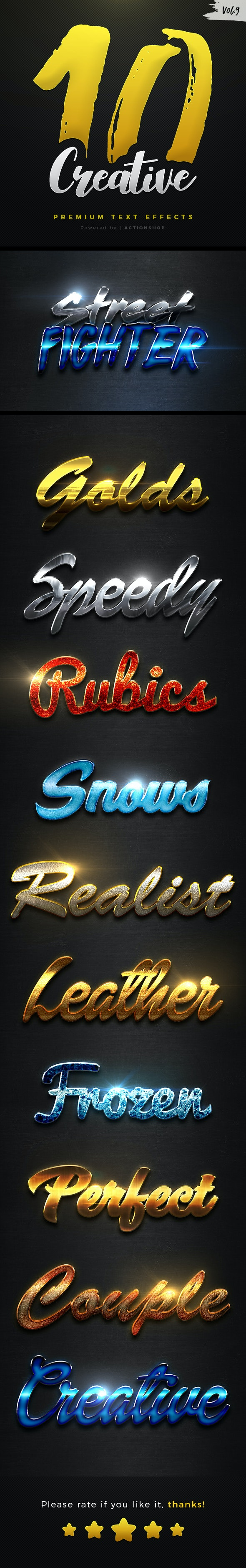 10 Creative Text Effects Vol.9 - Text Effects Styles
