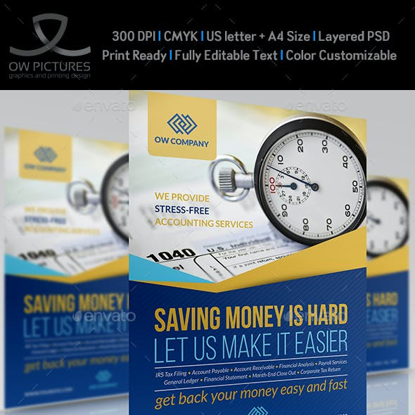 Tax and Accounting Flyer Template Vol.2