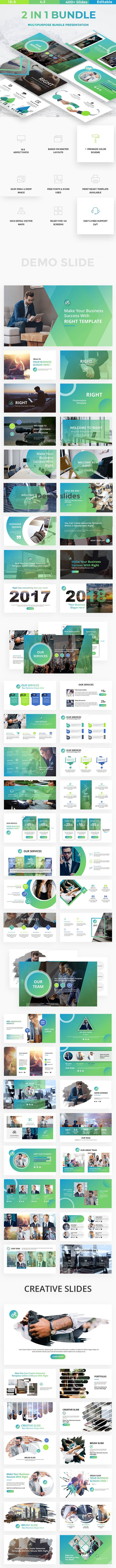 2 in 1 Bundle Business Powerpoint Template - Business PowerPoint Templates