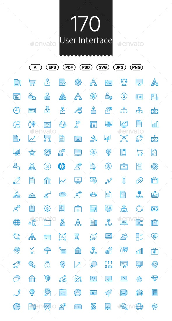 170 User Interface Cute Style icons